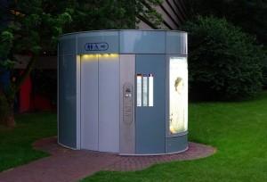 биотуалетная кабинка из швецарии