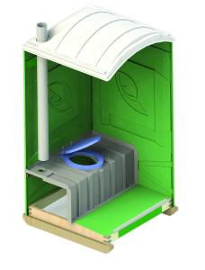 Туалетная кабина Эко Лайт Дачник2