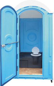 Пластиковая туалетная кабина серии эконом