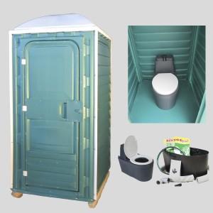 Устройство туалетных кабинок для биотуалета