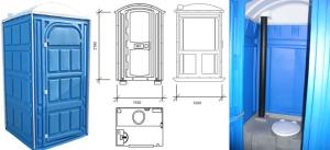 Схема и конструкция пластиковой туалетной кабины