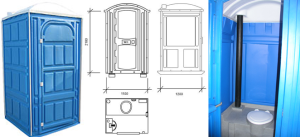 Схема и устройство кабинки туалетной