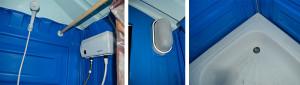 Устройство и мелкие детали душевой пластиковой кабины