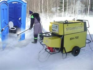 Обслуживание мобильных биотуалетных кабин зимой