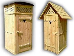 Виды и формы деревянных туалетных кабинок