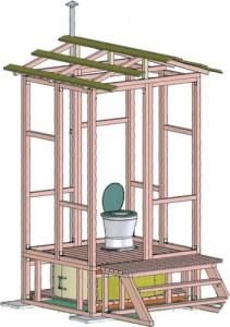 удачные схемы дачных туалетов