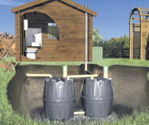 Подземный септик для дачного туалета
