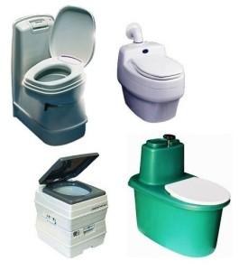 Виды унитазов для дачных туалетов