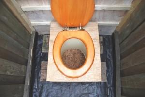 Торфяной вариант дачного туалета