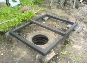 Как поставить туалет на яму